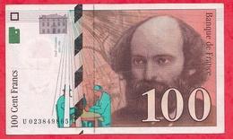 """100 Francs """"Cézanne"""" 1997  --N°-- U.023849865 Dans L 'état - 1992-2000 Dernière Gamme"""