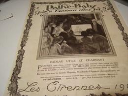ANCIENNE PUBLICITE PATHE BABY LE CINEMA CHEZ SOI LES ETRENNES 1923 - Photography
