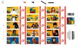België/Belgique Duostamp 2004 Le Lombard 60 Ans De BD ... C'est Un Bon Début (Cosey Derib Dupa Godi Grenson  ...) - Volledige Vellen