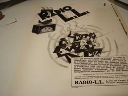ANCIENNE PUBLICITE RADIO LL JAZZ 1930 - Music & Instruments