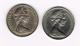 -&   AUSTRALIE  2 X 20 CENTS  1967/1980 - 20 Cents