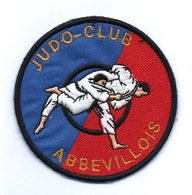 Abbeville Somme Judo Club  écusson Tissu Brodé - Patch Badge - Patches