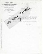 52 - Haute-marne - ROUVROY-SUR-MARNE - Facture CHANTREAU & TOURNAND - Commerce De Bois, Scierie - 1928 - REF 102B - 1900 – 1949
