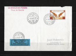 1937 La Chaux-de-Fonds Place Du Marché → Nach Rorschach  ►SBK-F14z◄ - Luchtpostzegels