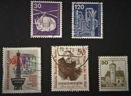 1975-1977 Rettungshubschrauber Mi.497,Chemieanlage Mi.503,Burg Ludwigstein Mi.534A,Kunstaustellung Mi.598,1967 Mi.309 - Berlin (West)