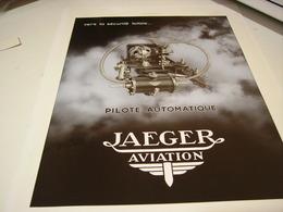 ANCIENNE PUBLICITEAVIATION  JAEGER-LECOULTRE 1933 - Bijoux & Horlogerie