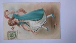 Carte Postale Fantaisie (H3) Ancienne Femme - Femmes