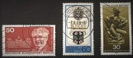 1975-1979 Paul Löbe Mi.515,Georg Kolbe-Plastik Mi.543,Bundesdruckerei Mi.598 - Berlin (West)