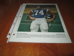 PETER DALLA RIVA POSTER COLOR 8 BY 11 MONTREAL ALOUETTES OCTOBER 1977 - Apparel, Souvenirs & Other