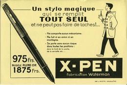 BUVARD X PEN WATERMAN STYLO MAGIQUE - Stationeries (flat Articles)