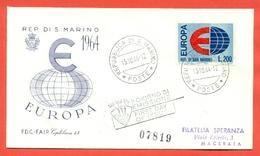 SAN MARINO -FDC -EUROPA - Saint-Marin