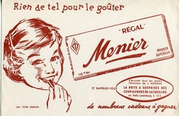 BUVARD Régal MENIER - Cocoa & Chocolat