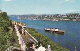 Canada > Quebec > Québec - La Promenade Des Gouverneurs Contourne Les Vieux Murs De La Citadelle, Ship, Used 1975 - Québec - La Citadelle