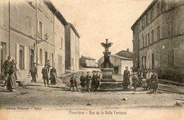 CPA - POURRIERES (83) - Aspect De La Rue De La Belle Fontaine Au Début Du Siècle - Other Municipalities