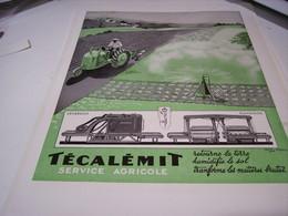ANCIENNE PUBLICITE  UNE MARQUE TECALEMIT  1941 - Tractors