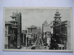 USA - San Francisco - Looking Down California Street From Chinatown - San Francisco