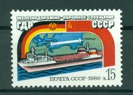 URSS 1986 - Y & T N. 5341 - Ligne De Transbordeurs Marittimes Klaipeda - Mukran - Unused Stamps