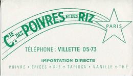 BUVARD Compagnie Des Poivres Et Des Riz épices Tapioca Vanille Thé - Food
