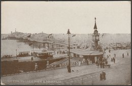 Palace Pier & Aquarium, Brighton, Sussex, 1920 - Postcard - Brighton