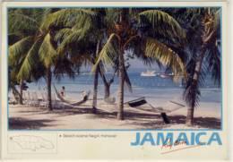 JAMAICA  BEACH SCENE NEGRIL  HANOVER  NICE STAMP - Jamaica