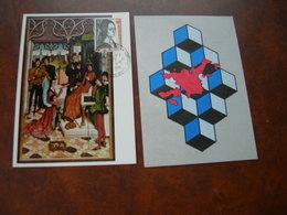 """BELG.1975 1766-67 MK-MC 2 CARDS  """"EUROPA """" - Maximum Cards"""