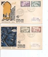 Maroc ( 2 FDC De PA De 1954 à Voir) - Marruecos (1891-1956)