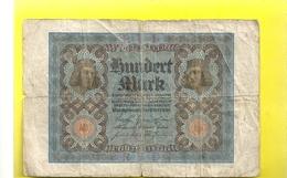 REICHSBANKNOTE . HUNDERT ( 100 ) MARK . 1-11-1920 . 2 SCANES - [ 3] 1918-1933 : Weimar Republic