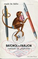 BUVARD Stylo Roule Ta Bille BAIGNOL FARJON - Stationeries (flat Articles)