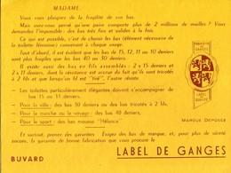 BUVARD BAS LABEL DE GANGES - Textile & Clothing