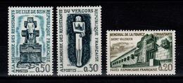 YV 1335 à 1337 N** Resistance Cote 3,25 Euros - Francia