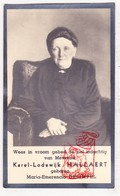 DP Foto - Maria E. DeSimpel ° Staden 1855 † 1939 X Karel L. Hallaert ° Beernem † Ieper / Camerlynck / Ypriana - Images Religieuses
