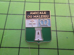 810e Pin's Pins / Belle Qualité Et Rare / VILLES / BLASON ECUSSON ARMOIRIES AMICALE DU MALZIEU LOZERE - Städte
