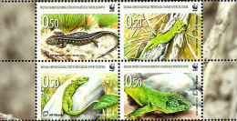 (WWF-462) W.W.F. Bosnia Croatia / Croatian Post Mostar : Balkan Green Lizard MNH Stamps 2010 - Unused Stamps