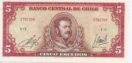 Chile  P-138  5 Escudo   UNC - Chile