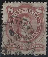 ARGENTINE 1879 N°38 8 Centavos Oblitéré Càd Français Hexagonale Buenos Ayres/ Ligne De Paquebot, RR Signé Calves - Argentine