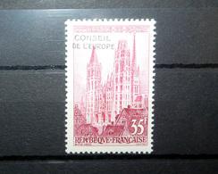FRANCE SERVICE 1958 N°17 ** (CATHÉDRALE DE ROUEN. 35F ROSE ET CARMIN. SURCHARGE CONSEIL DE L'EUROPE) - Officials