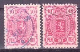 FINLAND SUOMI 1889  Mi 29Aa,b, Perf.12-1/2  USED - 1856-1917 Russian Government