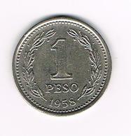 -&    ARGENTINA  1 PESO 1958 - Argentine