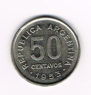 -&  ARGENTINA  50  CENTAVOS  1953 - Argentine