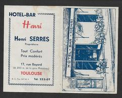 Calendrier 1947 - Hotel Bar H. SERRES  - Toulouse - Kalenders