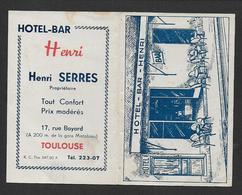 Calendrier 1947 - Hotel Bar H. SERRES  - Toulouse - Calendars