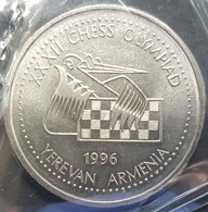 ARMENIA 100 DRAM CHESS OLYMPIAD 1996 KM 69 COIN UNC - Armenia