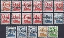 FRANCE Colis Postaux N°65 à 81**, Surchargé Spécimen - Parcel Post