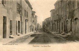 CPA - POURRIERES (83) - Aspect De La Grand'Rue Au Début Du Siècle - Other Municipalities