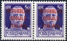 """ITALIA, ITALY, REPUBBLICA SOCIALE IT., SERIE """"IMPERIALE"""", 1944, FRANCOBOLLI NUOVI (MNH**) YT IT-RSI 23   Scott IT-RSI 3 - 4. 1944-45 Repubblica Sociale"""