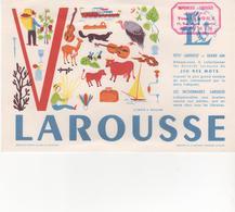 Buvard LAROUSSE Lettre V - Stationeries (flat Articles)