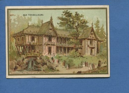 Paris Aux Travailleurs Bd Voltaire Jolie Chromo Calendrier Veuve Bourgerie 1890 Pavillon Eaux Et Forêts Trocadéro - Calendriers