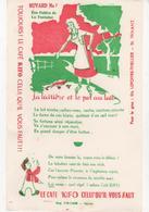 Buvard Café KIFO Les Fables De La FONTAINE N° 7 La Laitière Et Le Pot Au Lait (fond Blanc) - Coffee & Tea