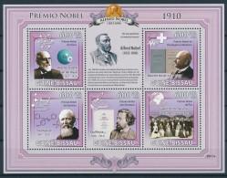 NB- [401076] **/Mnh-Guinée-Bissau 2009 - Premier Prix Nobel, Physique, Médecine, Paix, Chimie, Littérature - Nobel Prize Laureates