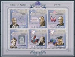NB- [401077] **/Mnh-Guinée-Bissau 2009 - Premier Prix Nobel, Physique, Médecine, Paix, Chimie, Littérature - Nobel Prize Laureates